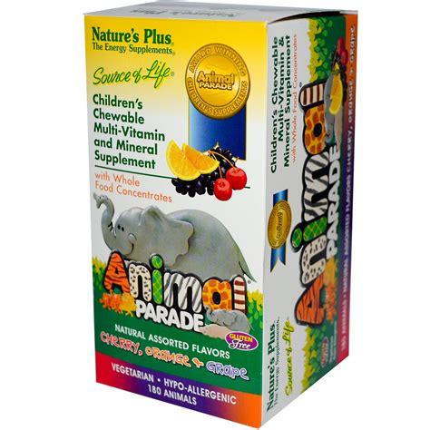 Natures Plus Animal Parade Children Multivitamin 8 Oz nature s plus animal parade children s chewable multi vitamin mineral assorted flavors 180