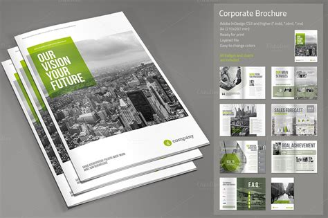 creative company profile layout pdf corporate brochure by paulnomade on creative market
