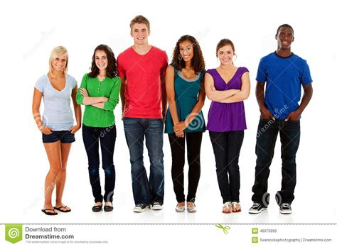 what is the meaning of young people who have a grey streaks students multi ethnic group of teen students stock image