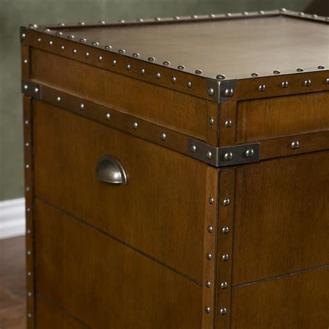 Trunk Side Table Southern Enterprises Steamer Trunk End Table End Tables Living Room