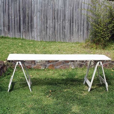 rustic trestle table hire rustic trestle table white the event hire