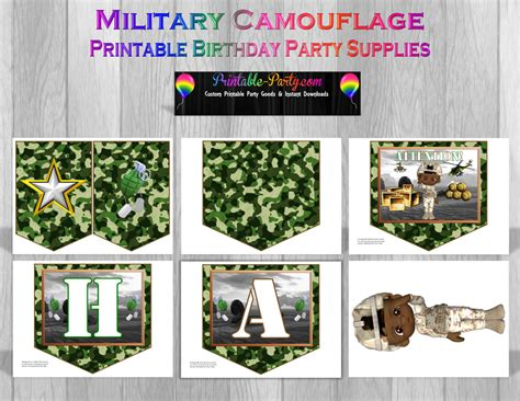 free printable army party decorations printable camouflage party supplies military birthday