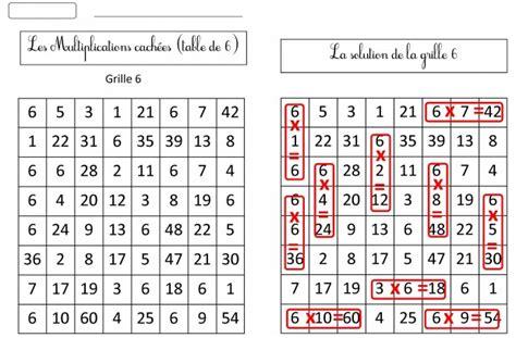 feuille de table de multiplication 11 jeux pour m 233 moriser les tables de multiplication