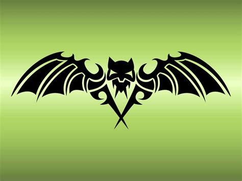 bat tribal tattoo bat design vector graphics freevector