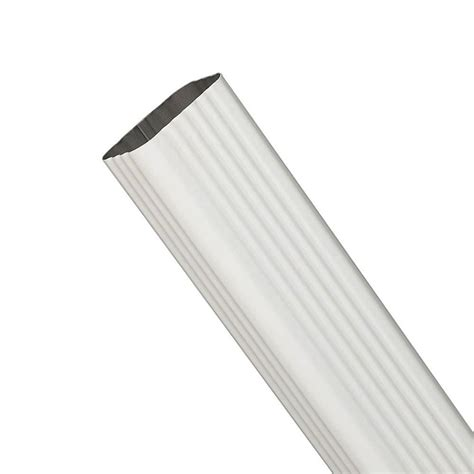 amerimax home products 15 in white steel 2 in x 3 in