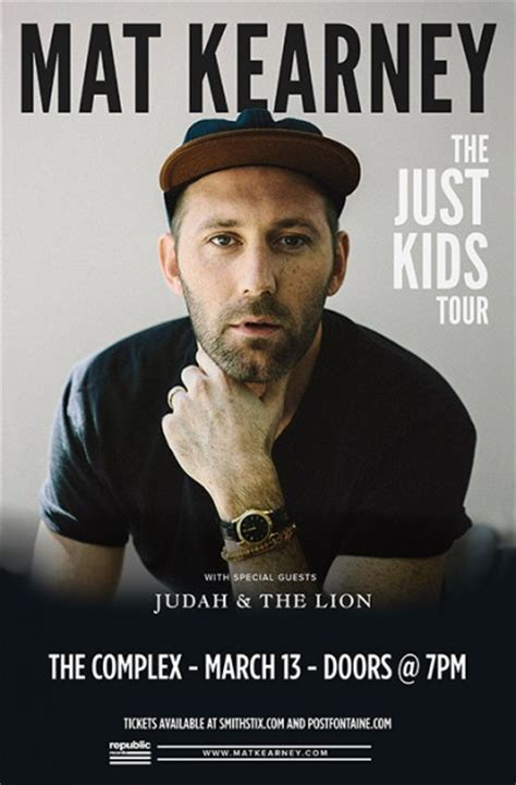 Mat Kearney Concert Tickets by Mat Kearney Friday March 13th 2015 At The Complex Salt
