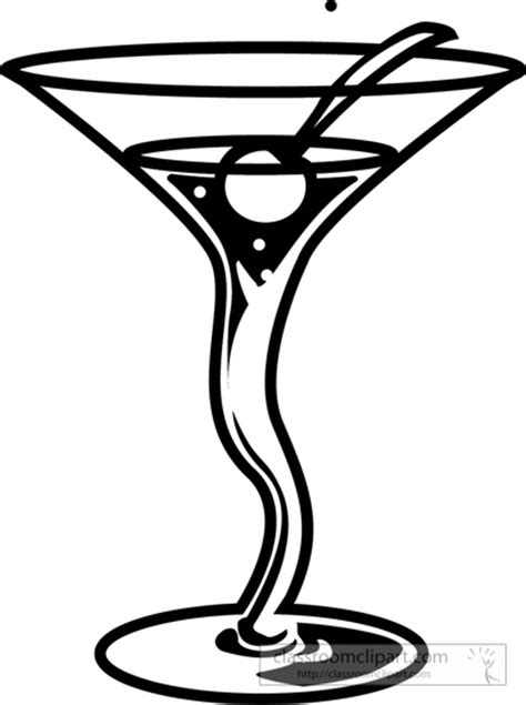 mixed drink clipart black and white cocktail drinks clip 68