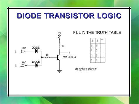 diode logic characteristics digital ic ajal crc