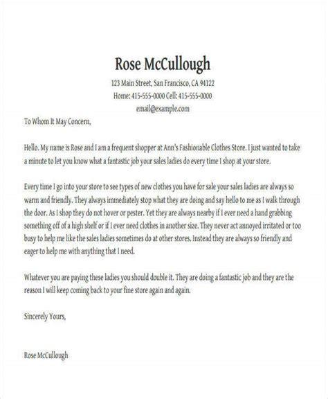 appreciation letter good service