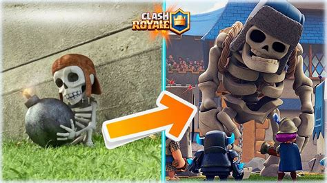 misin clash un esqueleto el origen del esqueleto gigante un bombardero rebelde clash royale withzack youtube