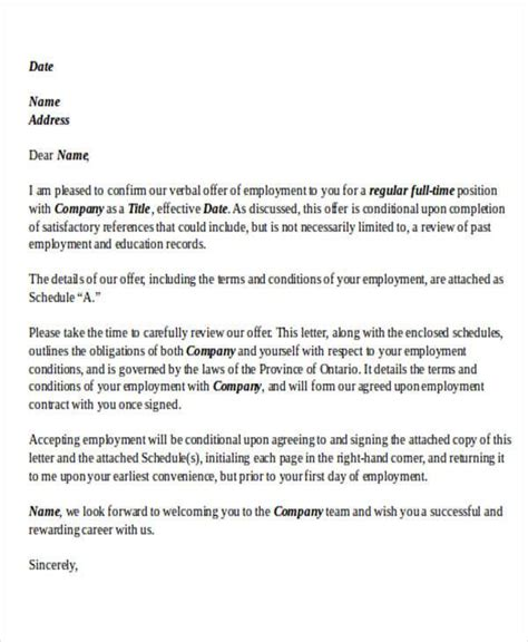 Acceptance Letter For Terms And Conditions letter format