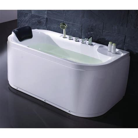 eago bathtub eago 59 in acrylic flatbottom bathtub in white lk1103 r