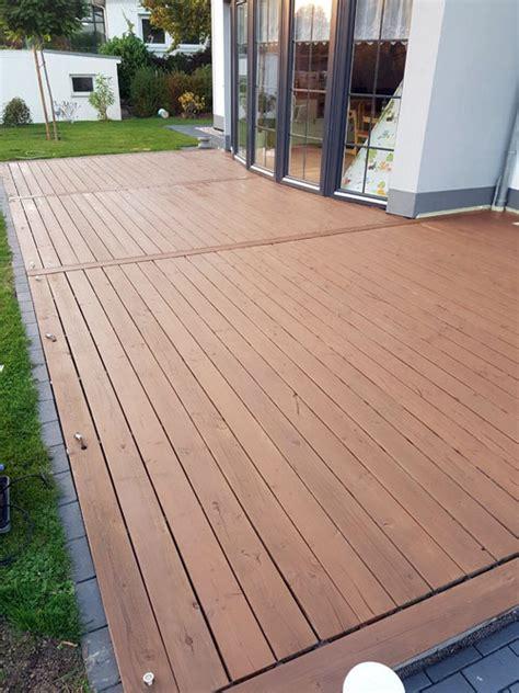 betonplatten streichen terrasse terrassendielen 214 len streichen lasieren so wirds