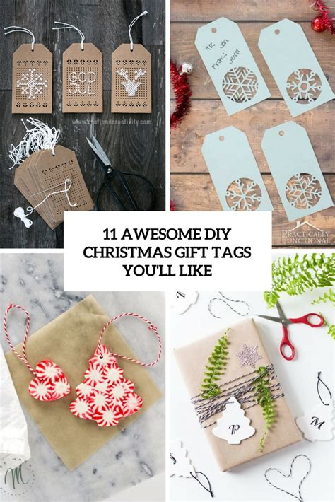 11 awesome diy christmas gift tags you ll like shelterness