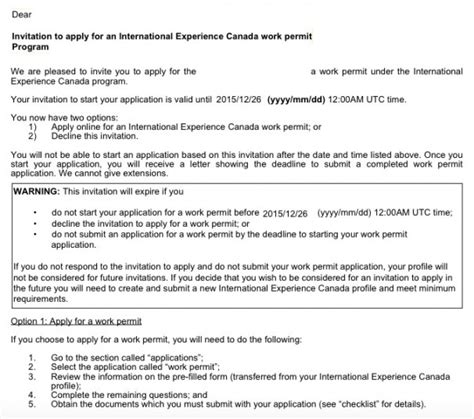 Invitation Letter Sle Cic How To Apply For A Canadian Working Visa 2016 The New Process Stepwest