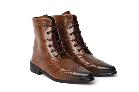 28m classic brown wingtip boots dollshe craft