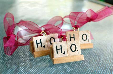 scrabble ornaments ho ho ho ornament handmade ornament from