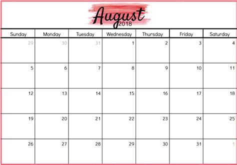2018 calendar template excel nz august 2018 calendar nz business calendar templates