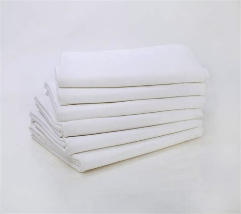 flat bed sheets lot of 6 new white queen size 90x110 flat bed sheet t200