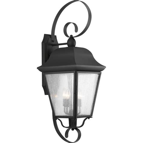 progress lighting santee collection 3 light outdoor black