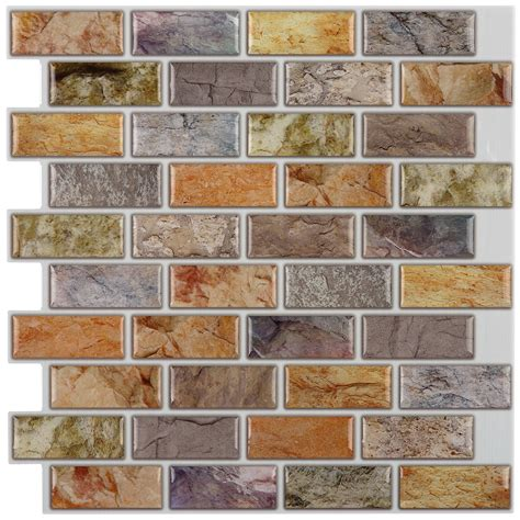 peel and stick mosaic tile backsplash with nice natural instant mosaic 12 quot x 12 quot epoxy peel stick mosaic tile in
