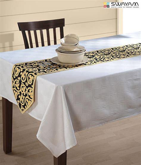 swayam black beige dining table runner buy swayam