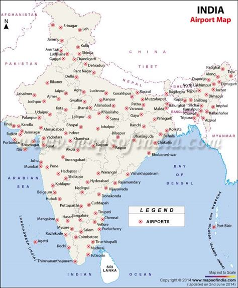 show map of with cities airports in india india airports map