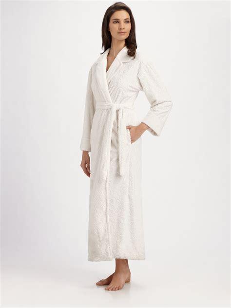 oscar de la renta robe oscar de la renta floraldetail robe in lyst
