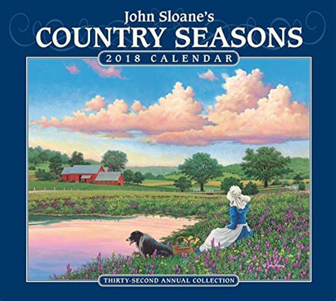 1449472443 john sloane s country seasons deluxe john sloane s country seasons 2018 deluxe wall calendar