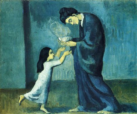 picasso paintings blue file pablo picasso 1902 03 la soupe the soup on
