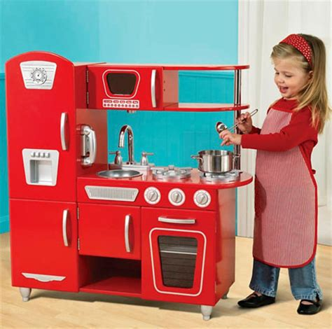 Retro Play Kitchen by Vintage Play Kitchen Gives A Wide Range Of Imaginary