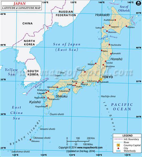 latitude and longitude maps japan latitude and longitude map