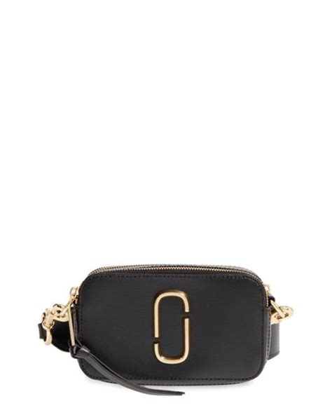 Marcjacobs Snapshot Black marc small snapshot leather crossbody bag in black lyst