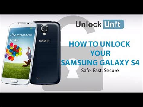 i want to unlock my samsung galaxy s4 model no sph l720 how to unlock your samsung galaxy s4 youtube