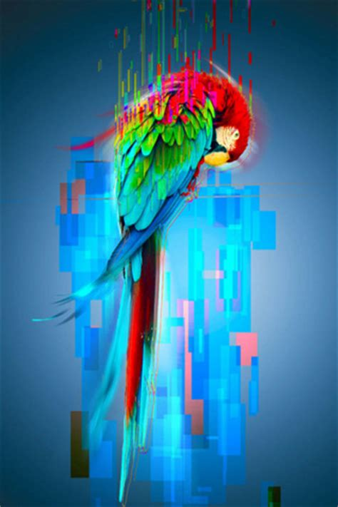 painting mobile9 parrot painting 320 x 480 wallpapers 2311170