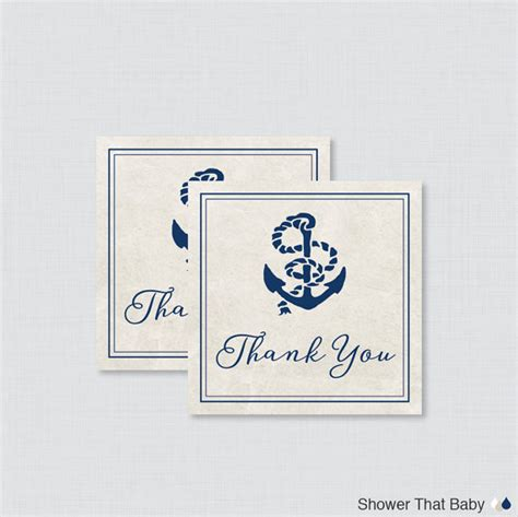 Nautical Baby Shower Favor Tags by Printable Nautical Baby Shower Favor Tags Nautical Thank You