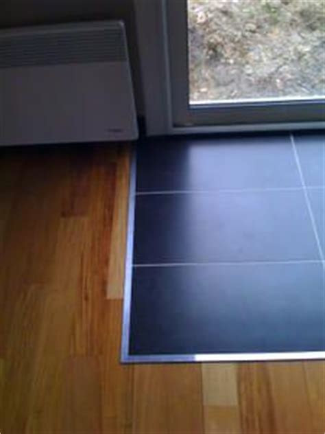 Mix Carrelage Parquet by Mix Parquet Carrelage Avec Profile Aluminium Carreaux