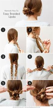 braids updo for hairstep by step easy hairstyles for work for medium or long hair hair
