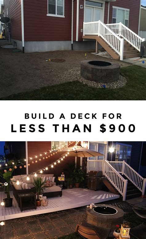 building a backyard deck how to build a simple diy deck on a budget