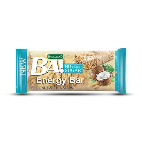 Chia Energy Bar Coconut cereal energy bars bakalland