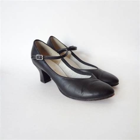 40s style shoes shoes 7 black maryjane heels 40s style shoes