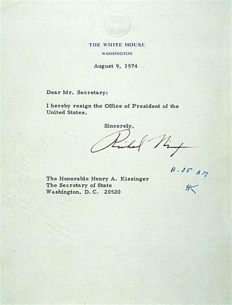 Presidential Briefformat Richard Nixon S Resignation Letter Goodorbademail