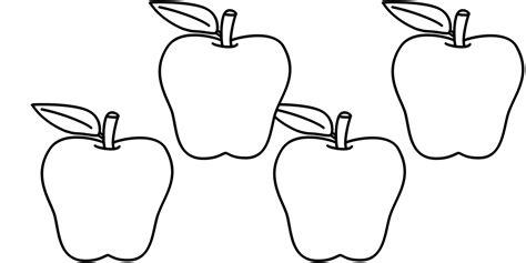 apple number coloring pages number 4 printing worksheet