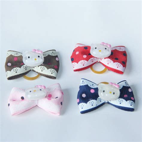 Handmade Pet Products - handmade pet grooming accessories mixed ribbon hair bow