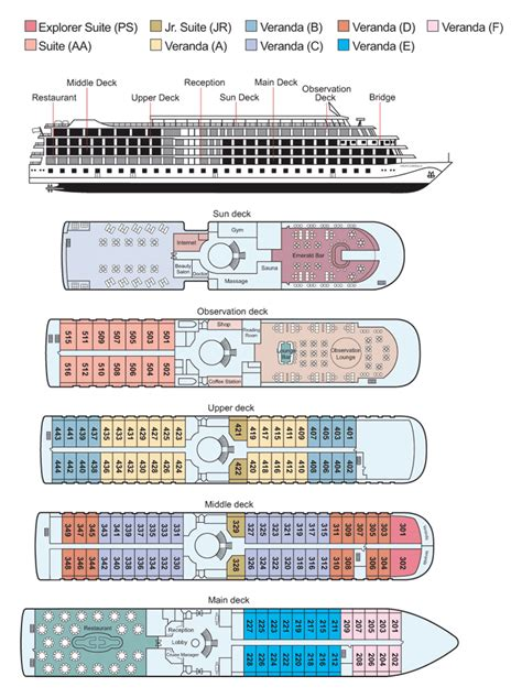 cruise ship floor plan about the viking emerald viking river cruises