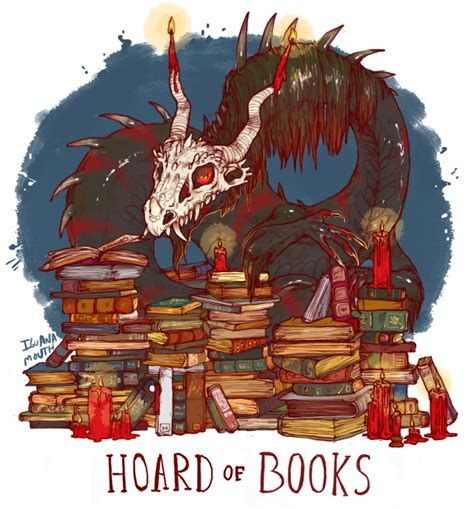 dragons and books hoard of books petrichorphic