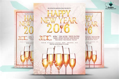 new year templates 2016 happy new year 2016 flyer psd flyer templates on