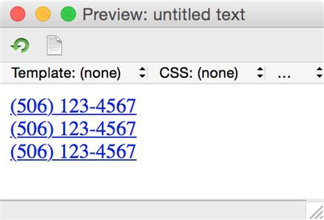 grep pattern numbers converting phone numbers to links using grep in bbedit