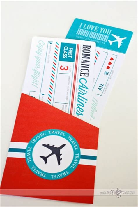 Flight Ticket Template Gift by Passport To