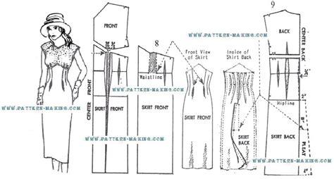 pattern making dress drafting empire sheath pattern making com